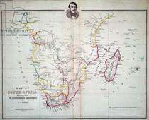 English School - Map of South Africa illustrating Dr. Livingstone's discoveries