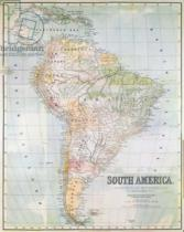 English School - Map of South America