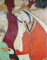 Persian School - Woman from the Court of Shah Abbas I, 1585-1627