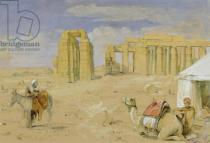 John Frederick Lewis - The Ramesseum at Thebes, c.1850