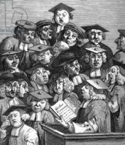 William Hogarth - Scholars at a Lecture, 20th January 1736-37