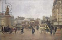 Edmond Georges Grandjean - La Place Clichy, Paris, 1896