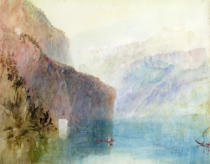 Joseph Mallord William Turner - Tell's Chapel, Lake Lucerne, c.1841