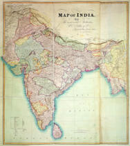 English School - Map of India, 1857