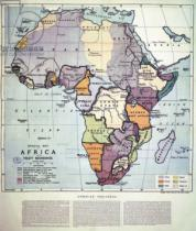English School - Map of Africa showing Treaty Boundaries, 1891