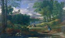 Nicolas Poussin - Landscape with a Man killed by a Snake, c.1648