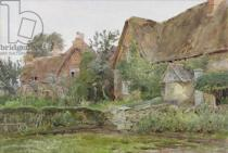 John Fulleylove - Thatched Cottages and Cottage Gardens, 1881