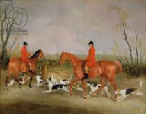 Richard Barrett Davis - George Mountford, Huntsman to the Quorn, and W. Derry, Whipper-In, at John O'Gaunt's Gorse, nr Melton Mowbray, 1836