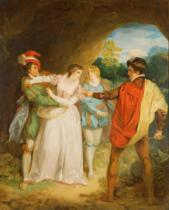 Francis Wheatley - Valentine rescuing Silvia from Proteus, from William Shakespeare's 'The Two Gentlemen of Verona', 1792