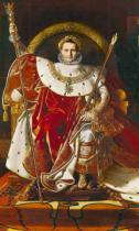 Jean-Auguste-Dominique Ingres - Napoleon I (1769-1821) on the Imperial Throne, 1806