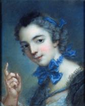 Jean-Marc Nattier - Portrait of a young girl, c.1750
