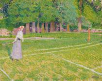 Spencer Frederick Gore - Tennis at Hertingfordbury, 1910