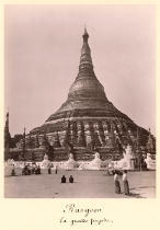 English Photographer - The Shwedagon Pagoda at Rangoon, Burma, c.1860