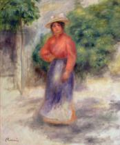 Pierre Auguste Renoir - Gabrielle in the garden, c.1905 ?