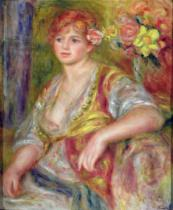 Pierre Auguste Renoir - Blonde woman with a rose, c.1915-17