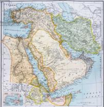 English School - Map of Turkey, Middle East Horn of Africa and Persian Gulf in the 1890s, from 'The Citizen's Atlas of the World', published in L
