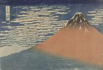 Katsushika Hokusai - Red Fuji with South wind and a clear sky, c.1850