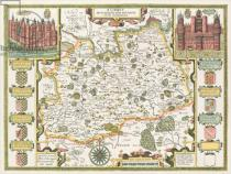 John Speed - Map of Surrey, engraved by Jodocus Hondius (1563-1612) from John Speed's Theatre of the Empire of Great Britain, pub. by John Su