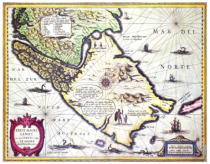 Dutch School - Map of the Magellan Straits, Patagonia