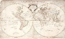 John & John Senex & Maxwell - A Map of the World, Corrected from the Observations communicated to the Royal Societies of London and Paris, to the Right Honour