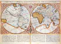 Gerard Mercator - Double Hemisphere World Map, 1587