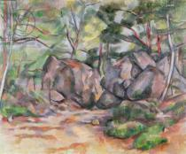 Paul Cézanne - Woodland with Boulders, 1893