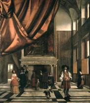 Pieter de Hooch - The Council Chamber of the Burgermasters