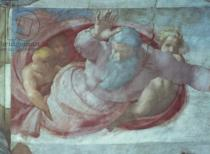Michelangelo Buonarroti - Sistine Chapel: God Dividing the Waters and Earth