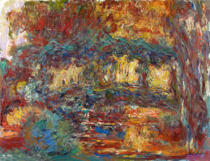 Claude Monet - Waterlilies: The Japanese Bridge, or Japanese Bridge at Giverny, c.1923