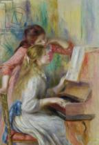 Pierre Auguste Renoir - Young Girls at the Piano, c.1890