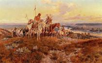 Charles Marion Russell - The Wagons