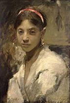 John Singer Sargent - Head of a Capri Girl, 1878
