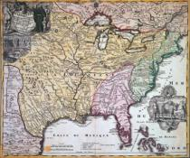 Johann Baptist Homann - Map of Louisiana and Mississippi, c.1720