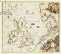 Frederick de Wit - Map of the North Sea, c.1675