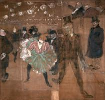 Henri de Toulouse-Lautrec - Dancing at the Moulin Rouge: La Goulue (1870-1927) and Valentin le Desosse (1843-1907) 1895