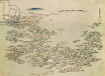 Japanese School - Aerial view of the Islands of Japan, c.1820