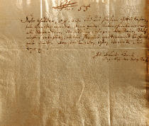 Johann Sebastian Bach - Remuneration Receipt, 17th December, 1704