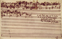 Johann Sebastian Bach - Last page of The Art of Fugue, 1740s