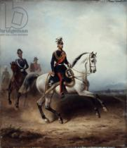 Hermann Meyerheim - Frederick III Wilhelm on the Bornstedter Field, 1858
