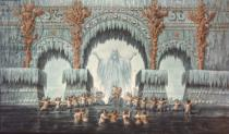 Karl Friedrich Schinkel - Muehleborn's Water Palace, set design for a production of 'Undine',