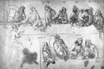 Leonardo da Vinci - Preparatory drawing for the Last Supper
