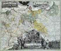 German School - Master Sheet of the Prussian Sovereign Countries, c.1765