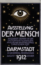 Franz Von Stuck - German advertisement for a 'hygiene exhibition' in Darmstadt, printed by C.C. Meinhold und S Dresden 1912