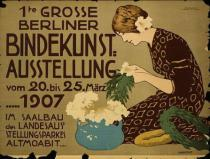 Hans Lindenstaedt - German advertisement for a floristry exhibition in Berlin, printed by Curt Behrends und Co., Berlin, 1907