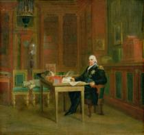 Baron François Pascal Simon Gérard - Louis XVIII (1755-1824) in his Study at the Tuileries