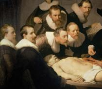 Harmensz van Rijn Rembrandt - Detail of The Anatomy Lesson of Dr. Nicolaes Tulp, 1632