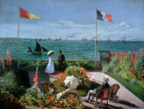 Claude Monet - The Terrace at Sainte-Adresse, 1867