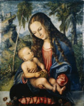 Lucas Cranach der Ältere - Madonna under the fir tree, c.1510