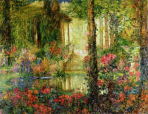 Thomas Edwin Mostyn - The Garden of Enchantment - stage set for 'Parsifal', 1914