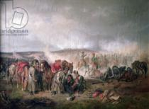 Adam Albrecht - The death of Count Seinsheim at the Battle of Borodino in 1812, 1862